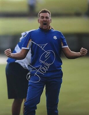 Ian Poulter Signed 16X12 Photo Ryder Cup Legend Private SIGNING AFTAL COA (G)
