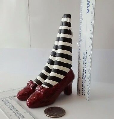 Wizard of Oz Ruby Slippers:  Bookend / Doorstop  (Wicked Witch of the East)