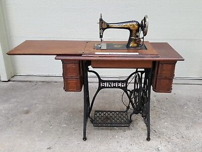 ANTIQUE SINGER FOOT Pedal Sewing Machine 4040 PicClick Unique Singer Foot Pedal Sewing Machine