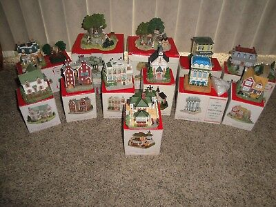 Vintage Liberty Falls Village and The Americana Collection 12 Houses Items Boxes