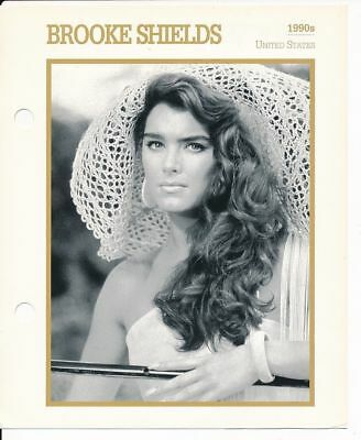 "BROOKE SHIELDS MOVIE STAR ENCYCLOPEDIA 5 3/4"" X 7"" CARD-1990s"