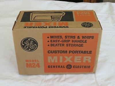 NEW! Vintage GE Custom Portable Hand Mixer still in original un-opened box.