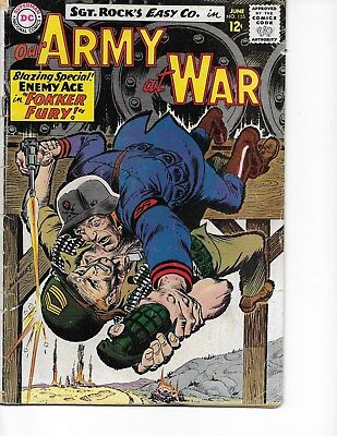 Our Army at War  #155 (Enemy Ace/3rd Appr.  VG  4.0) June-1965, DC