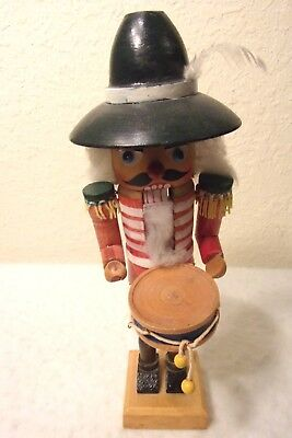 "Steinbach STYLE vintage nutcracker, 9  3/4"" tall the drummer"