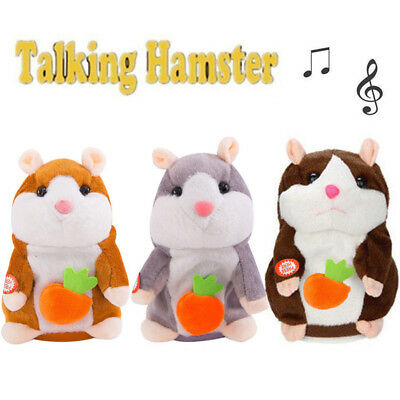 Talking Hamster Mouse Pet Plush Toy Cute Speak Sound Record for Kids Xmas Gifts