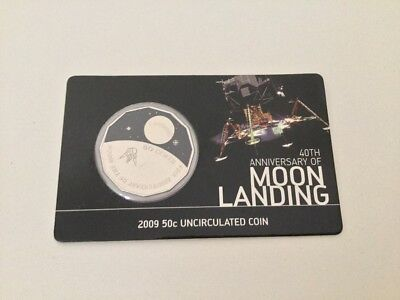 2009 50c Uncirculated Coin 40th Anniversary Of Moon Landing