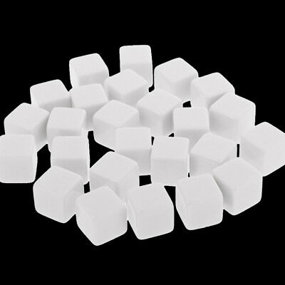10x 16mm Square Blank White Glossy Dices Support To Write Dice Durable Use