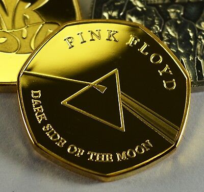 PINK FLOYD, DARK SIDE OF THE MOON 24ct Gold Commemorative. Albums/Collectors NEW