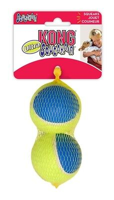 KONG ULTRA SqueakAir BALLS LARGE 2-Pack - More Durable Squeaker Tennis Ball Dog
