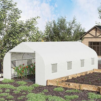 20x10x7ft Walk-in Outdoor Tunnel Greenhouse Portable Backyard Plant Growth Shed