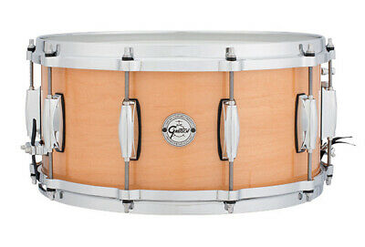 """Gretsch Silver Series Snare Drum in Natural Maple Finish - 14 x 6.5"""""""