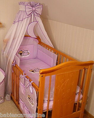 STUNNING CANOPY DRAPE+ FREE STANDING holder/rod/clamp to fit Cot or Cod Bed