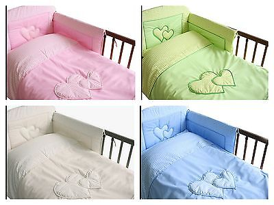 Lovely 3 pcs BABY BEDDING SET/BUMPER/PILLOW/duvet case  to  fit cot  or cot bed