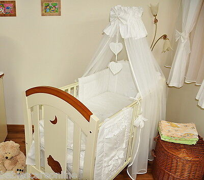 Lovely  CANOPY DRAPE 320cm wide! +CANOPY HOLDER / ROD to fit  BABY COT or COTBED