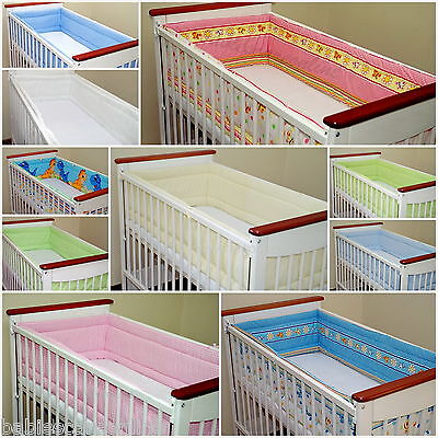 All round/ all around Nursery bumper 420cm long/ Paded/ to  fit Baby cot bed