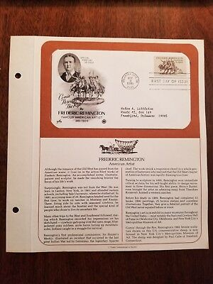 First Day Issue - Frederic Remington, American Artist  - Postmarked: 10/9/1981