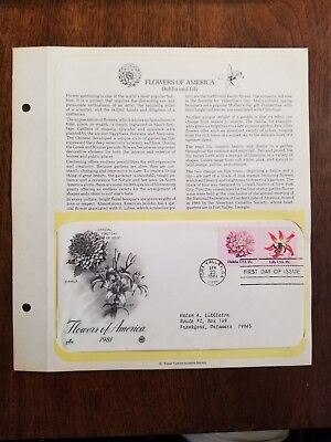 First Day Issue - Flowers of America, Dahlia & Lily - Postmarked: 4/23/1981