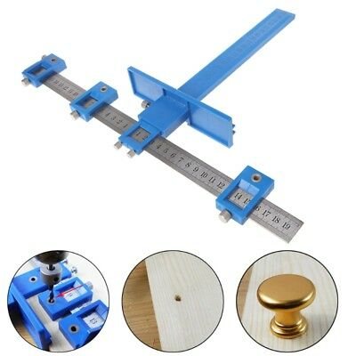 Punch Locator Drill Guide Woodworking Drilling Dowelling Hole Saw Adjustable New