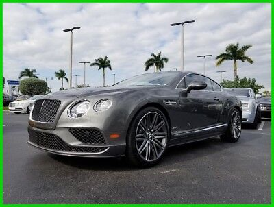 2016 Bentley Continental GT Speed 2016 Speed Used Turbo 6L W12 48V Automatic AWD Premium