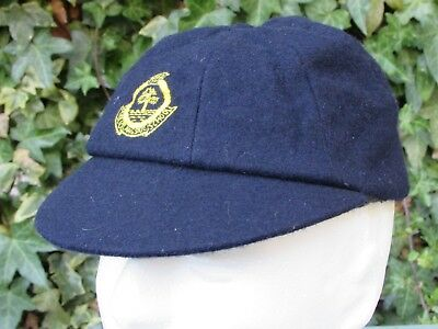 WW2 school boy's eight panel cap, navy blue size 6 1/2