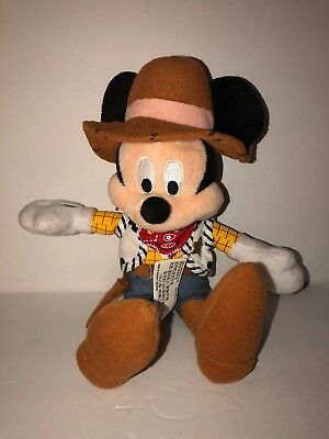 Disney Mickey Mouse Plush - Dressed like a Cowboy or Woody - Frontierland