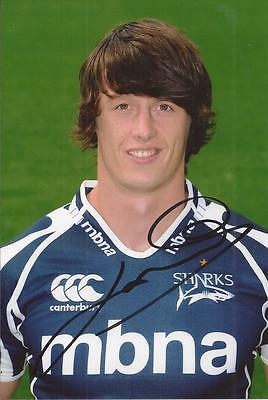 Sale Sharks Rugby Union * James Gaskell Signed 6X4 Portrait Photo+Coa