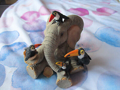 """Adorable """"Henry"""" Elephant Figurine - """"Toucan be my Friends"""""""