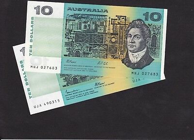 Two x $10 notes for sale one 1991 and one 1985