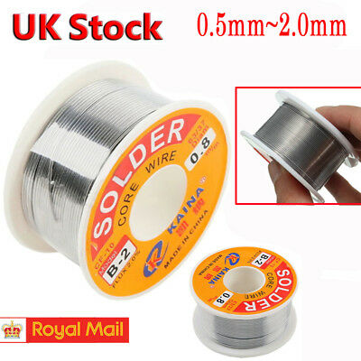63-37 Tin Lead Rosin Core Solder Wire for Electrical Solderding 0.5-2mm 100g NEW