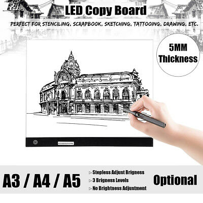 A3 A4 A5 LED Drawing Board Art Craft Design Light Box Tracing Pad Copy Lightbox