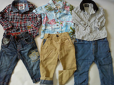 ***AMAZING** 6x WINTER NEXT BUNDLE OUTFITS BABY BOY 6/9 MTHS SHIRTS TROUSERS(0.6