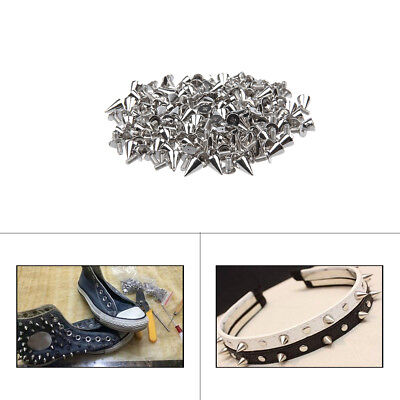 Silver Screwback StudsSpike Cone Cloths Jean Bags Belts Jackets Leather Craft