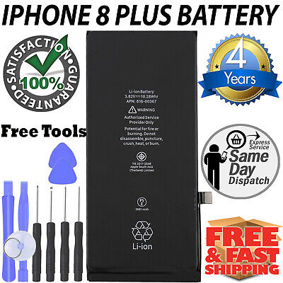 BRAND NEW REPLACEMENT BATTERY FOR IPHONE 8 PLUS CELLS ZERO Cycle + FREE TOOLS