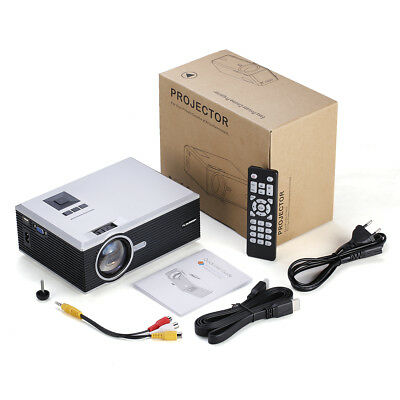 HD Projector 1080P HDMI Portable VIDEO 800*480 Home Theater LCD PLAY 2018 New FR