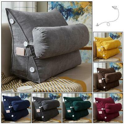 Cotton Sofa Bed Chair Rest Neck Support Wedge Cushion Adjustable Back Fip Pillow