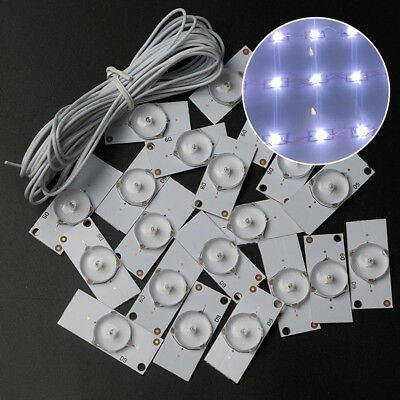 """20 Pcs 3V SMD Lamp Beads With Optical Lens Fliter Fits For 32""""-65"""" LED TV Repair"""