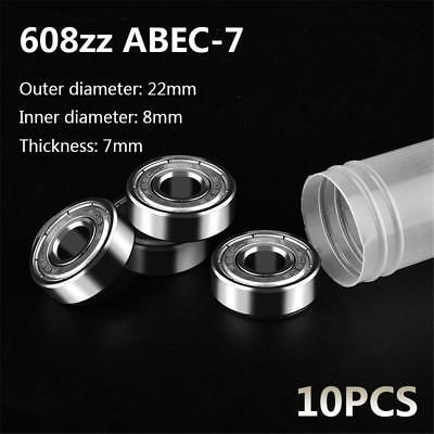 10X 608ZZ Deep Groove Ball Bearing ABEC-7 Skateboard 3D Printer RepRap 8*22*7mm