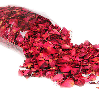 50g Dried Rose Petals Natural Dry Flower Petal Spa Whitening Shower Bath Tool 3F