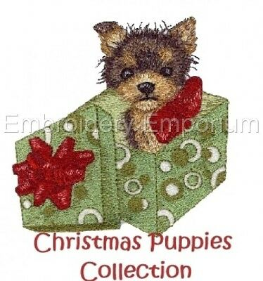 Christmas Puppies Collection - Machine Embroidery Designs On Cd