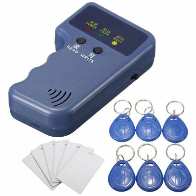 125Khz Writer+Keychain+Cards RFID Reader/Writer+6 Writable Tags+6 Cards Best