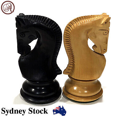 AMBRIZZOLA Russo 95mm Quality Wooden Chess Pieces (Weighted + 2 extra queens)