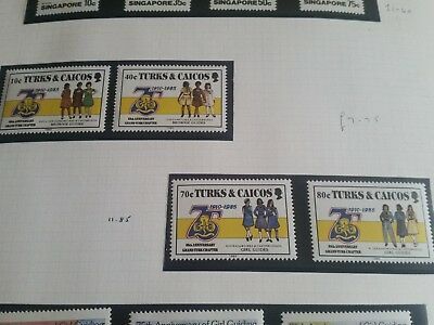 Turks And Caicos Islands 1985 Sg 883--886  75Th Anniv Of Girl Guildes Mnh