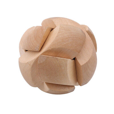 3D Wooden Football Lock Educational Puzzle Brain Teaser Removing Toy 6A