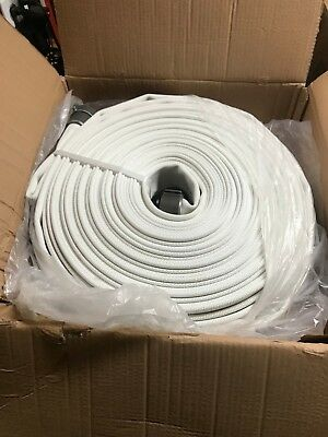 "LOT OF 2 RAWHIDE Fire Hose 1.5"" x 100' Polyester Jacket EPDM Lined SJP1.5X100AL"