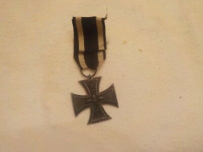 WWI Authentic 1914 FW 1813 IMPERIAL GERMAN Iron Cross Medal WITH RIBBON