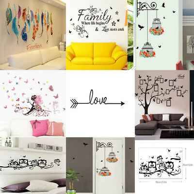 dbf6c041a1 DIY Removable Art Vinyl Quote Wall Sticker Decal Mural Bathroom Home Room  Decor