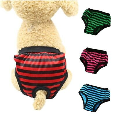 Pet Physiological Pants Striped Sanitary Underwear Soft Female Dog Diaper Briefs
