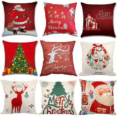 Throw Pillow Case 18x18 Christmas Pillow Cover Home Covers Car Decorative