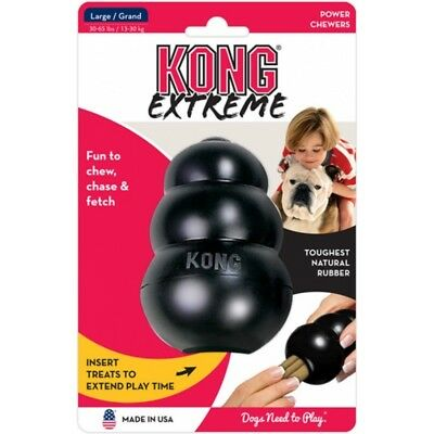 Kong Extreme Rubber Toy Black Large Cane Gioco In Gomma Super Resistente Grande