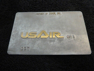 USAIR US Air 037 - TRAVEL AGENT AIRLINE TICKET VALIDATION PLATE